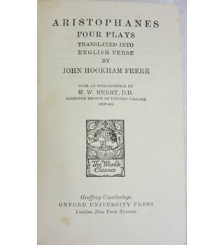 Aristophanes in English Verse
