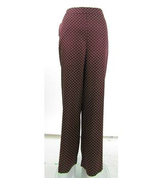 NWOT - M&S Marks & Spencer - Size: 16 - Red -  Wide Leg Trousers