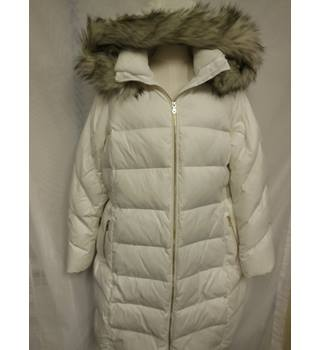 Women's Down & Feather Coat size 20 M&S Marks & Spencer - Size: 20 - Cream / ivory - Casual jacket / coat