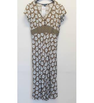 Boden Brown with blue flowers dress - Size: 10L