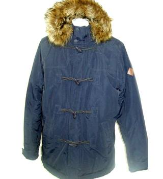 Hollister Navy Blue Waterproof Jacket Hollister - Size: L - Blue - Parka