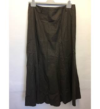 Solo Brown longline gathered skirt Size: 16 - Brown