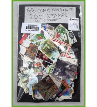 G.B. 200  Commemoratives all different