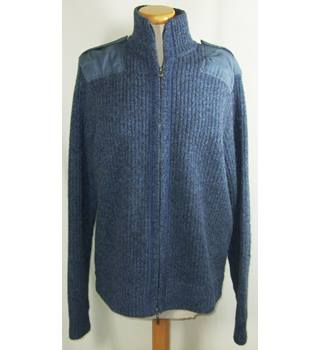 Pringle size medium indigo blue zipped cardigan