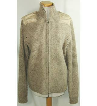 Pringle size medium camel zipped cardigan