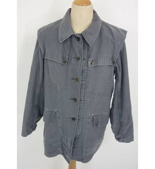Unbranded Size: 14, 37 chest, reg length Grey Casual/Stylish Cotton Field Jacket