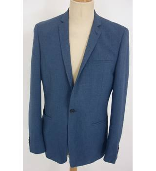 "Asos  Size: M, 40"" chest, tailored fit Blue Smart/Stylish Cotton Single Breasted Jacket"
