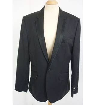 "Ted Baker  Size: M, 38"" chest, tailored fit Black Smart/Stylish Wool Single Breasted Designer Dinner Suit Fashion Jacket"