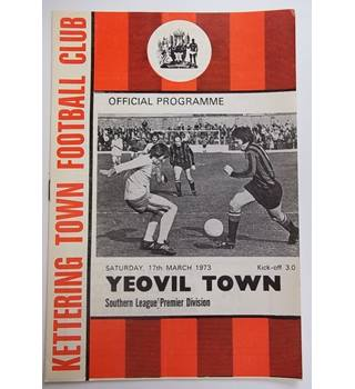 Kettering Town v Yeovil Town. 17th March 1973