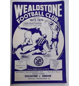 Wealdstone v Andover. 24th November 1973