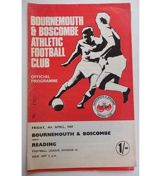 Bournemouth and Boscombe v Reading. 4th April 1969