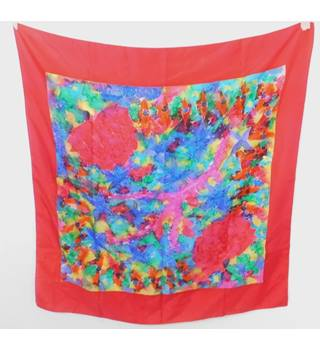 Beautiful Batik Printed Scarf With Red Boarder