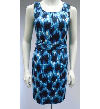 Principles Petite - Blue Sleeveless Wiggle Dress - Size 8