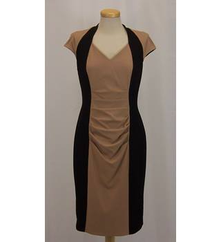 Phase Eight - Size: 12 - Camel & Black Bodycon Dress