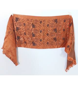 Vintage Circa 1990's Brunt Orange & Black Scarf