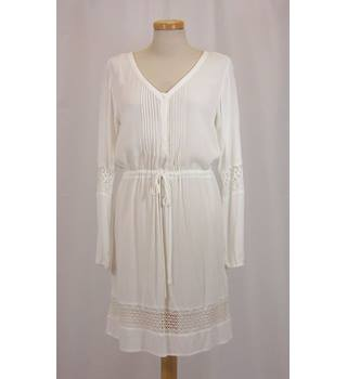 BNWT - H&M - Size:10 - Off-White Crinkle Cheesecloth Tunic