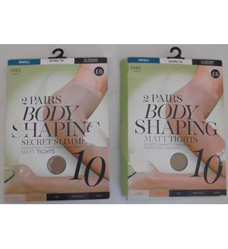 M&S Marks & Spencer - Size: S - 2 Packs Body Shaping Matt Tights