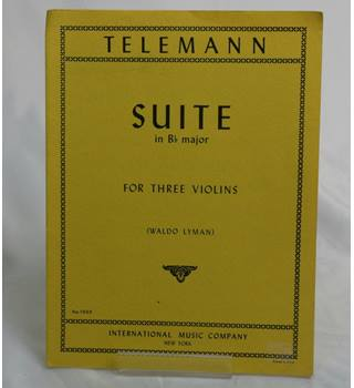 Suite in B-Flat Major for Three Violins Sheet Music