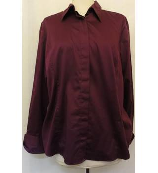 M&S Marks & Spencer - Size: 20 - Purple - Long sleeved shirt