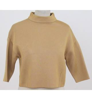NWOT: Limited Edition at M&S: Size 8: Gold Cropped jumper