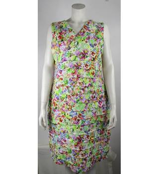 Betty Barclay - Floral Summer Dress- Multi-Coloured - Approximate Size: 18