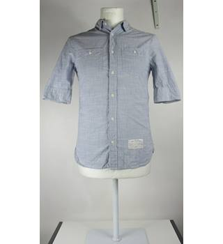 All Saints - Light Blue - Short Sleeved Shirt - Approximate Size: XS