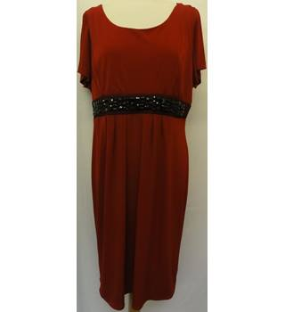 Joanna Hope - Size: 16 - Red - Knee length dress