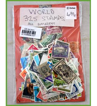325 World stamps - all different