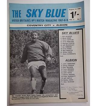 Coventry City v Albion. 12th August 1969
