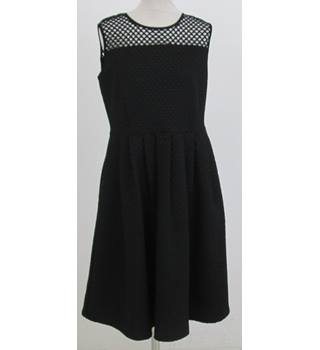 NWOT: M&S collection: Size 14: Black open weave yoke dress