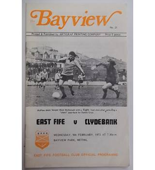 East Fife v Clydebank. 9th February 1972