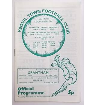 Yeovil Town v Grantham. 6th November 1973