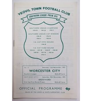 Yeovil Town v Worcester City. 11th November 1972