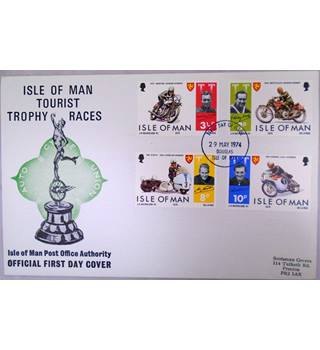 A pack of 12 Isle of Man first day cover issued in 1974-1975