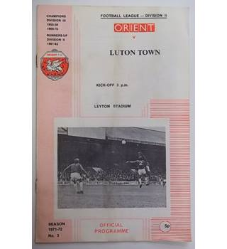 Orient v Luton Town. 8th September 1971