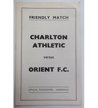 Charlton Athletic v Orient. 7th February 1969 - Friendly Match