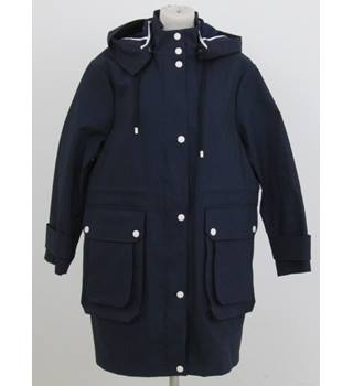 NWOT: Autograph: Size 18: Navy blue parka with hood.