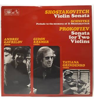 Prelude To The Memory Of D. Shostakovitch - EXCELLENT - Andrei Gavrilov, Gidon Kremer, Tatiana Grindenko -  ASD 3547