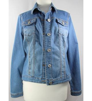 "Baccini - Size: S - Bust 36"" - Light blue denim - Ladies' Designer Jacket"