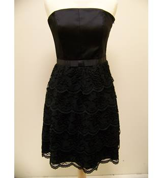 Oasis Party Dress in Black - Size 10