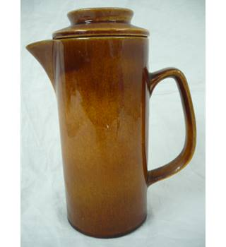 Striking brown coffee pot by Wattisfield Studio Pottery