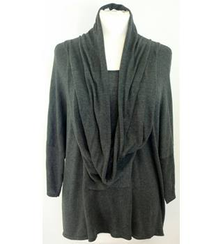 "Monsoon - Size: L - chest 48"" (meant to be big and baggy) - Dark Grey - Ladies' Jumper"