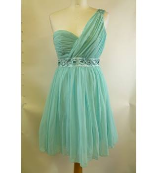 Brand new Jane Norman size 8 Turquoise One Shoulder Dress