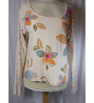 Boden - size 14, cream floral and spot patterned top
