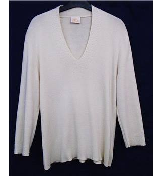 Country Casuals size L cream with pearled neckline jumper