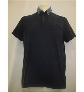 Ted Baker Size XL (TB size 4) Men's Navy Polo Shirt