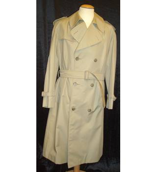 "Christian Dior Monsieur  Size: 36"" chest Beige double breasted Trench Raincoat"