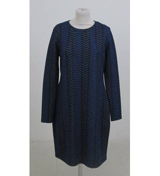 M&S Limited Editon Size:14 blue herringbone dress