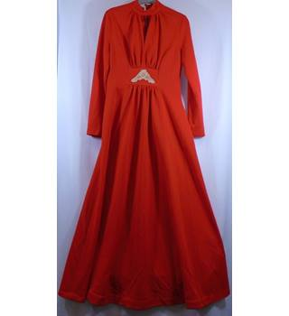 Vintage Devonshire Lady - Size 14 - Red - Dress