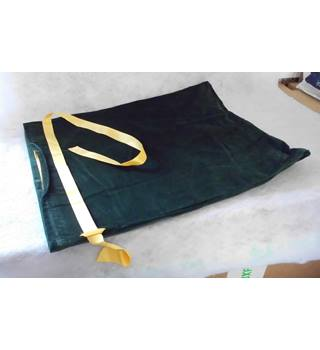 Brand new Green Velour storage bags